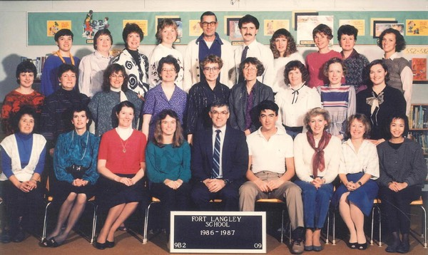 FORT LANGLEY SCHOOL 1986-87